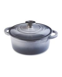 Grey Cast Iron Casserole Dish 20cm