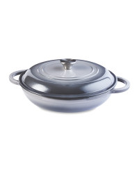 Grey Shallow Casserole Dish 30cm
