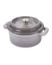 Grey Cast Iron Mini Dutch Oven