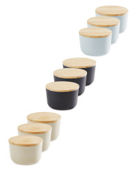 Small Bamboo Canisters 3 Pack