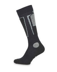 Adult's Navy Ski Socks With Silk