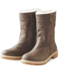 Dark Brown Ladies' Snug Boots