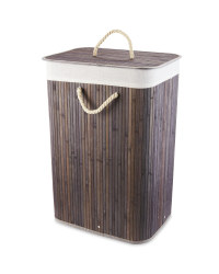 Dark Grey Bamboo Laundry Basket