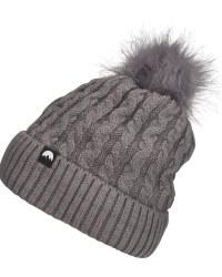 Adult's Dark Grey Pom Pom Knit Hat