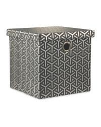 Dark Grey Storage Cube With Lid