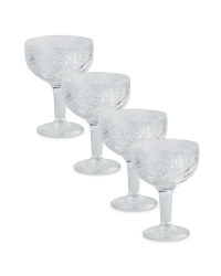 Decorated Sundae Glass 4-Pack