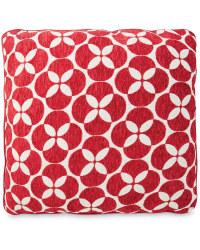 Decorative Cushion - Circles - Red