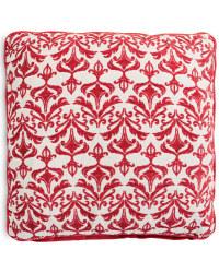 Decorative Cushion - Damask - Red