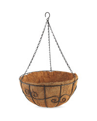 "14"" Decorative Swirl Hanging Basket"