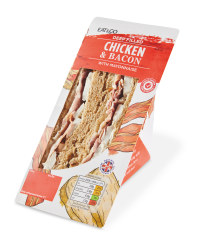 Deep Filled Chicken & Bacon Sandwich