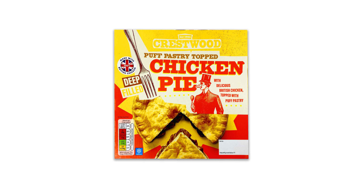 Deep Fill Pastry Topped Chicken Pie Aldi Uk