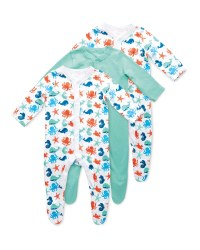 Deep Sea Baby Sleepsuit 3 Pack