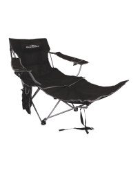 Deluxe Camping Chair With Footrest - Black