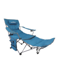 Deluxe Camping Chair With Footrest - Teal