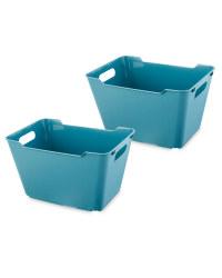 Design Living Boxes 12L 2 Pack - Blue