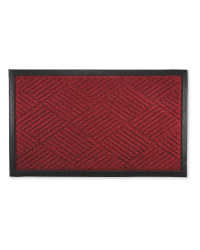 Diamond Design Doorguard Mat - Red