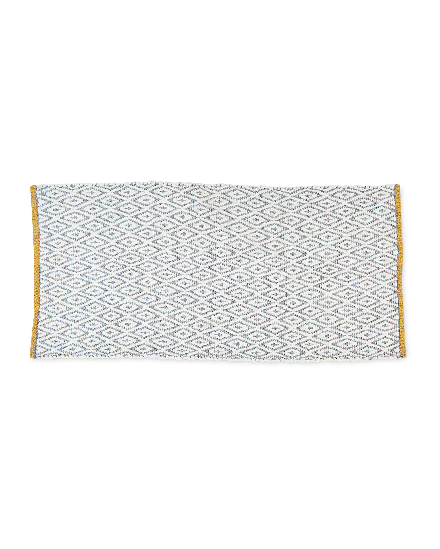 Diamond Grey & Yellow Decorative Rug