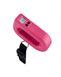 Digital Suitcase Scale - Hot Coral