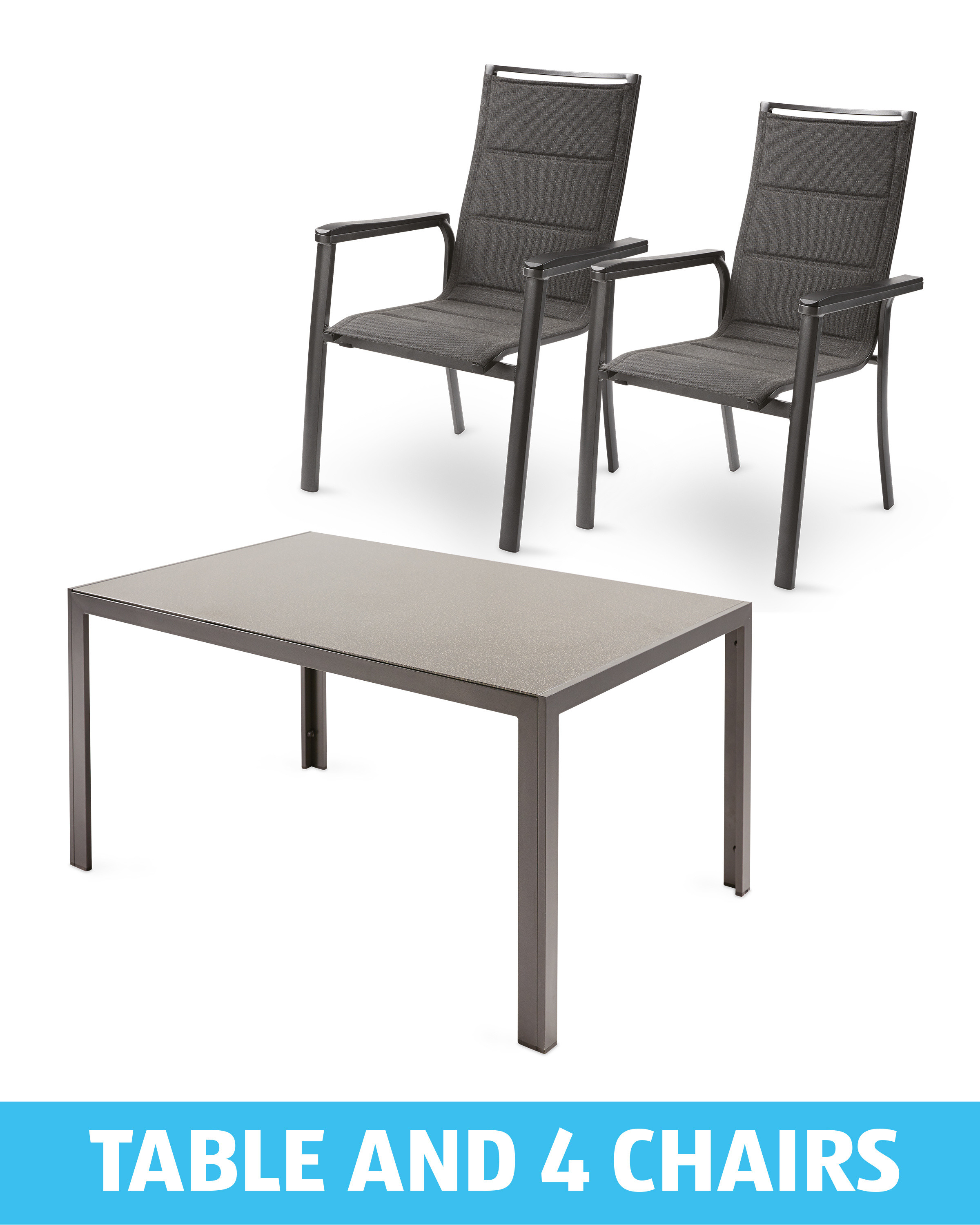 Dining Table And 4 Anthracite Chairs Aldi Uk