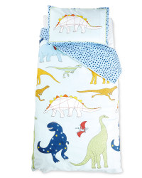 Dinosaur Land Cot Duvet Cover Set