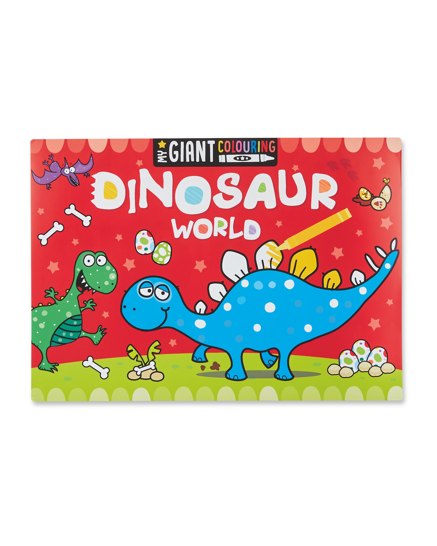 Dinosaur World Colouring Poster Pad