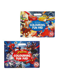 Pixar and Marvel Colouring Pads