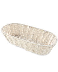 Distressed White Bread Basket