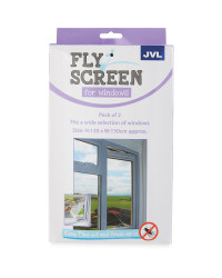 Fly Screen For Windows 2-Pack - Black