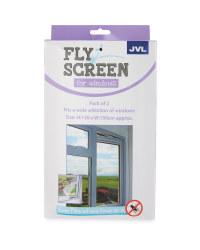 Fly Screen For Windows 2-Pack - White