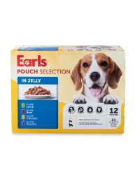 Dog Food Pouch Selection in Jelly