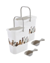 Dog Pet Food Container 2 Pack