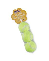 Dog Squeaky Tennis Balls 3-Pack