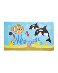 Dolphin Heat Spot Kids' Bath Mat