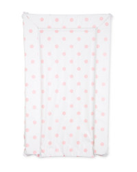Dotted Baby Changing Mat - Pink