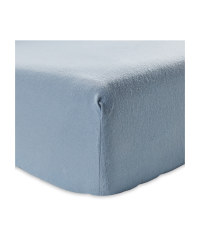 Double Brushed Cotton Fitted Sheet - Light Blue