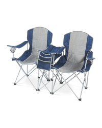 Double Camping Chair with Cooler