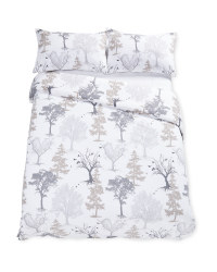 Double Cotton Duvet Set Trees