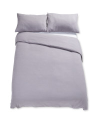 Double Cotton Duvet Set - Dark Grey