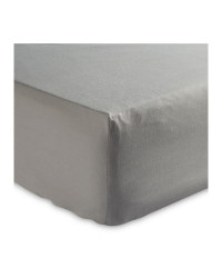 Double Easy Care Fitted Sheet - Grey