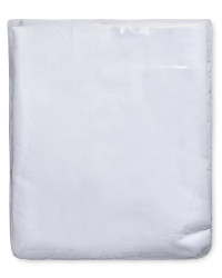 Egyptian Cotton Double Fitted Sheet - White