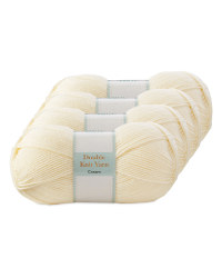 Double Knitting Yarn Cream 4 Pack