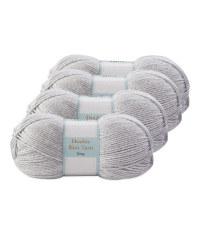 Double Knitting Yarn Grey 4 Pack