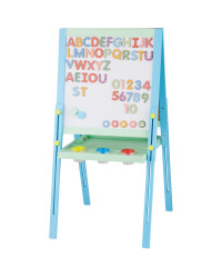 Double Sided Easel with Magnets - Blue