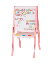 Double Sided Easel with Magnets - Pink