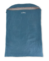 Extra Wide Double Sleeping Bag - Blue