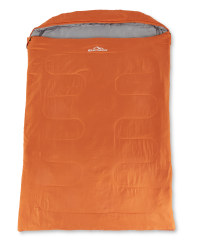 Extra Wide Double Sleeping Bag - Orange