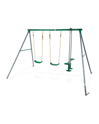 Double Swing Set With Glider