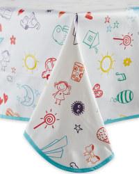 Drawings PVC Tablecloth