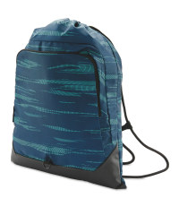 Drawstring Fitness Bag - Blue/Green