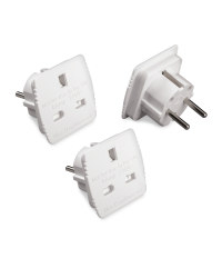 EU Travel Adapters - 3 Pack